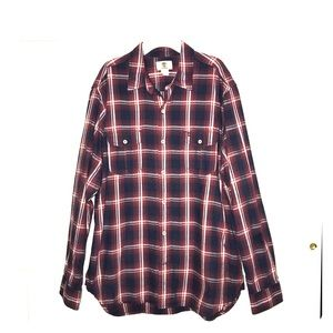Men's Timberland plaid button up